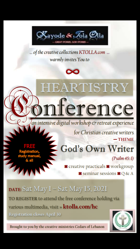 Heartistry Writers Conference - flier